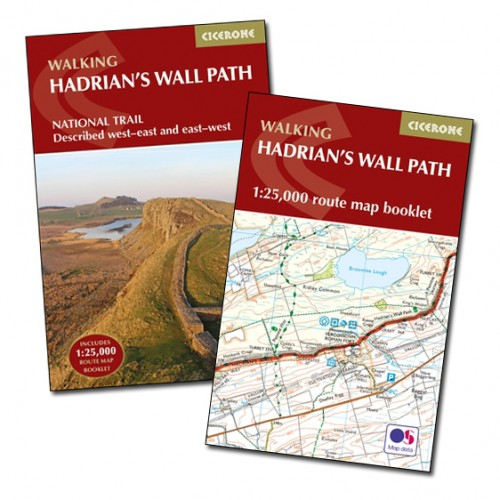 walking hadrians wall path guidebook and map booklet