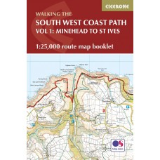Walking the South West Coast Path Route Map Booklet | Vol 1: Minehead to St Ives