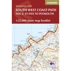 Walking the South West Coast Path Route Map Booklet | Vol 2: St Ives to Plymouth