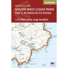 Walking the South West Coast Path Route Map Booklet | Vol 3: Plymouth to Poole