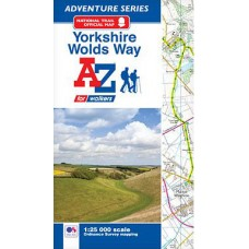 Yorkshire Wolds Way | Official National Trail Map | A-Z Adventure Atlas