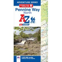 Pennine Way North    Official National Trail Map   A-Z Adventure Atlas