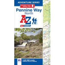 Pennine Way North |  Official National Trail Map | A-Z Adventure Atlas