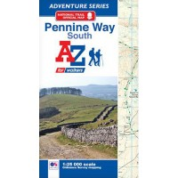 Pennine Way South   Official National Trail Map   A-Z Adventure Atlas