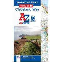 Cleveland Way | Official National Trail Map | A-Z Adventure Atlas