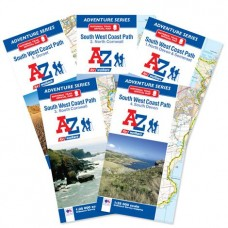 South West Coast Path | Full Set of 5 Maps | Official National Trail Maps | A-Z Adventure Atlas