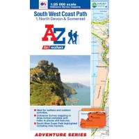 South West Coast Path | 1: North Devon & Somerset | Official National Trail Map