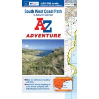 South West Coast Path | 4: South Devon | Official National Trail Map