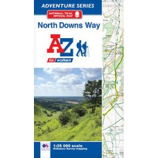 North Downs Way   Official National Trail Map   A-Z Adventure Atlas