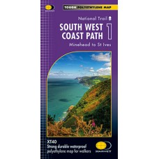 South West Coast Path 1 | Minehead to St Ives | National Trail Map | XT40 Map Series