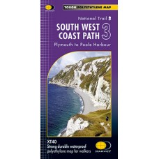 South West Coast Path 3 | Plymouth to Poole Harbour | National Trail Map | XT40 Map Series