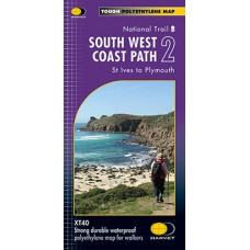 South West Coast Path 2 | St Ives to Plymouth | National Trail Map | XT40 Map Series