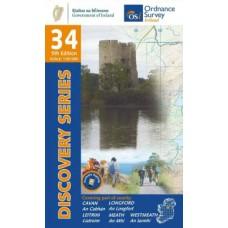 OSI Discovery Series | Sheet 34 | Part of Cavan, Leitrim, Longford, Meath & Westmeath