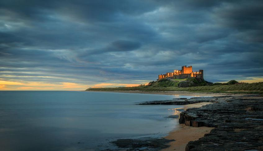 Banburgh Castle on the Northumberland Coast Path