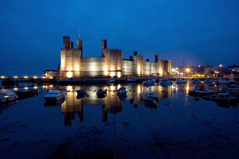 Caernarfon Castle at the end of the North Wales Castles Trail